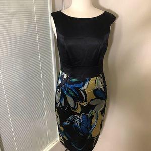 Kay Unger  New York Sz 10 black print Dress